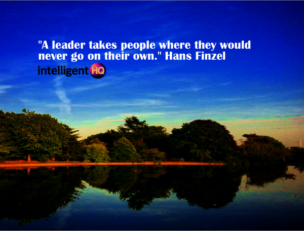 """""""A leader takes people where they would never go on their own."""" Hans Finzel #quote #leadership  @intelligentHQ http://t.co/T9HCx0tTnA"""