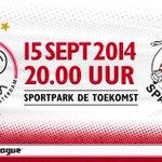 Vandaag #JongAjax - Sparta op de Toekomst. Moedig jij onze talenten aan? Tickets: http://t.co/iErS2s9zv7 #ajaspa
