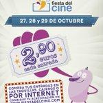 ¡Vuelve la #fiestadelcine los días 27, 28 y 29 de Octubre! Organizan un año mas @CineICAA @FAPAE_ #FEDICINE #FECE http://t.co/0GkH6SZpIQ