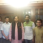 With office-bearers of the St Stephen's College Quiz Club, which i founded in 1974. Invited me to be Quizmaster inOct
