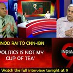 Newsmaker on #IndiaAt9 with @bhupendrachaube Watch the full interview of former CAG Vinod Rai at 9pm http://t.co/djq9hG8F0Y