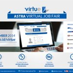 RT @infobdg: Berkarir di Grup Astra? Ikuti Astra Virtual Job Fair 18-21/9'14 : http://t.co/4POjSGQvoi Info : @Astra_Career http://t.co/Lpc5DFmfaM