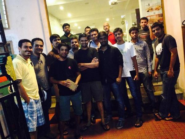 Met a bunch of entrepreneurs yday #FKMeetup. @prateekdayal @cbkrish @isaacjohnwesley @kwdinc @shankspeaks @shrayasr http://t.co/eJ5o8ZBmJ8