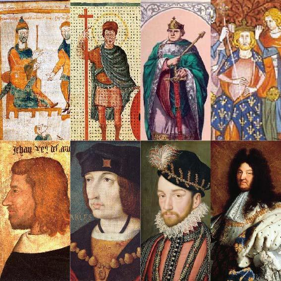 フランス歴代国王の肖像を並べたら画力成長記録みたいになった http://t.co/i1ABmtq2hO