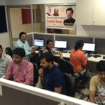 Here is my @BJYM team in action at the central control room,coordinating relief material for #KashmirFloods http://t.co/tL1JXfpDCs