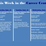 Sycamores, take advantage of this weeks events and opportunities offered by @CareerCenter1! http://t.co/LGJAwSc8Hw