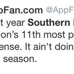 So, Appalachian State fans dont think much of USM. LETS WELCOME THEM TO THE ROCK!!!!!! #SMTTT http://t.co/XDaLXe2hIN