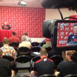 RT @RSL4Utah: Coach Whitt addressing the media about the matchup with Michigan. #Utes http://t.co/NQEa8Qzena