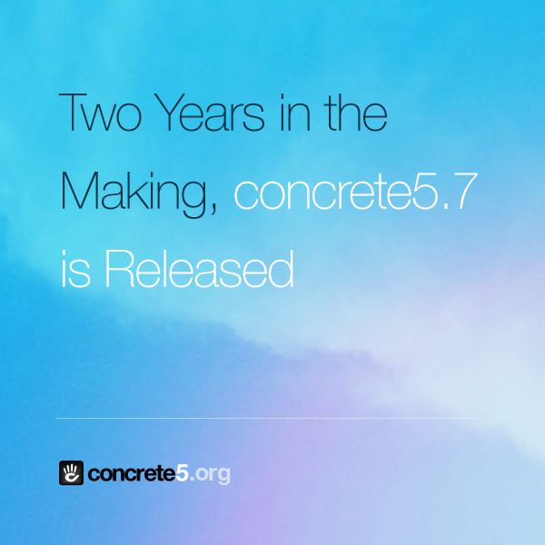 If you missed the press release: Two Years in the Making, concrete5.7 is Released http://t.co/L6UB1wPjes #concrete5 http://t.co/HdIJTxnrp8
