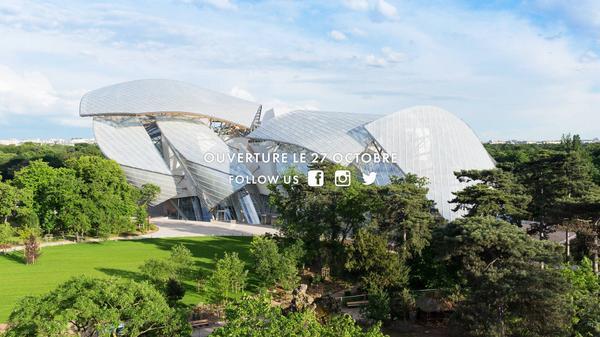 La Fondation Louis Vuitton arrive sur les réseaux sociaux ! Bienvenue @FondationLV ! :-)  #FondationLV http://t.co/E7SZl7frd0