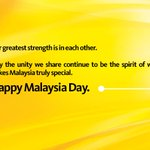 RT @MyMaybank: Happy Malaysia Day, from all of us at Maybank. #MalaysiaDay http://t.co/QOYFv7xCy4