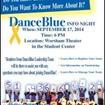 RT @UKDanceBlue: Learn more about DanceBlue 9.17 @ 6 PM in Worsham Theater! #GetInvolved #FTK http://t.co/5OrKlBzzoZ