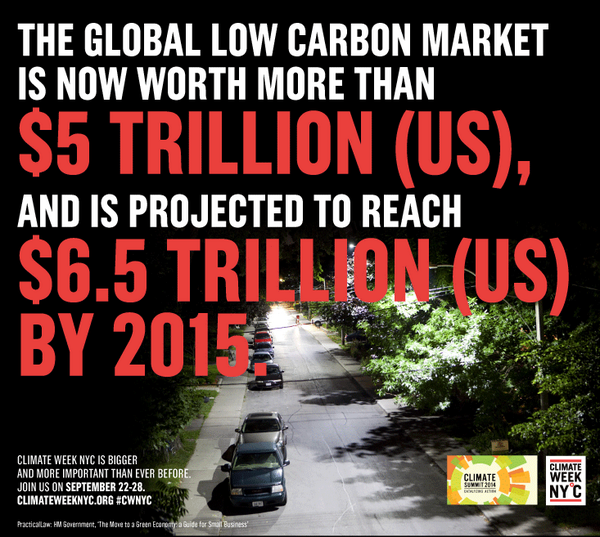 Low carbon is THE growth market. See who is leading the way at #CWNYC: http://t.co/p5BB1IroDt #upchat #climate2014 http://t.co/6Jb9eGq27Z
