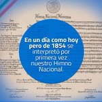 RT @PanchDominguez: Un día como hoy se cantó por primera vez el Himno Nacional Mexicano#VivaMéxico http://t.co/AIqM9nCxVS