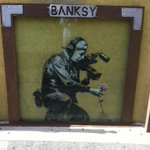 Twitter / @BenWinslow: The glass on the Banksy ou ...