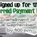 RT @mahnoorucmsfc: Hey Bobcats! 2nd payment of the Deferred Payment Plan is due by September 22nd by 4:00 pm! #ucmerced #ucmsfc #bobcats http://t.co/DbtRiHMMZ6