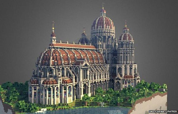 This #Minecraft cathedral was built in two nights. See six other spectacular creations... http://t.co/5xc2f5LSce http://t.co/D99bNPQIJz