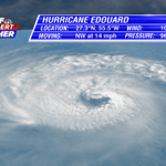 RT @jamiearnoldWMBF: Textbook presentation of Hurricane Edouard this afternoon in the central Atlantic. Likely a category 3 by tonight. http://t.co/55t8W5z0Mf