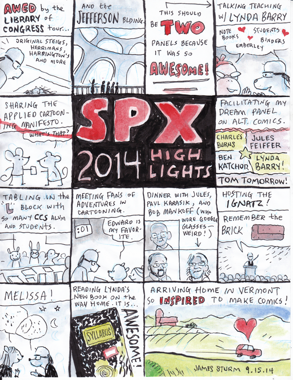 @SPXcomics  SPX 2014 Highlights by James Sturm http://t.co/pMsupMzgDQ