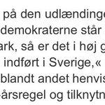 Ros danske socialdemokrater nok var foruden fra partisekretæren i Sverigedemokraterna #dkpol http://t.co/wKnWa2wnSA http://t.co/lBWTjIvARh
