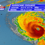 Hurricane Edourard now just shy of becoming a Category 3 (major) hurricane. Last major hurricane was Sandy in 2012. http://t.co/1nY5Ib1nf7