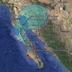 """RT @conagua_clima: """"ODILE"""" se desplaza hacia el noroeste a 20 km/h y su presión mínima central es de 975 hPa. http://t.co/vcvgCpu0IV"""
