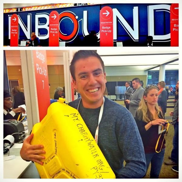 Hey @PaullYoung! (He's carrying a Jerry Can 'til he hits his goal for @charitywater) https://t.co/shUMZfbwm2 #INBOUND http://t.co/V03DztMQD6