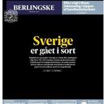 Sverige er gået i sort, siges det. Berlingskes forside tirsdag. #sverigeval #svenskvalg http://t.co/3OM3JjU5tn