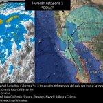 """Huracán categoría 1 """"ODILE"""" genera condiciones de potencial de lluvias importantes en el noroeste del país. http://t.co/pp28nt5INE"""