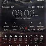 Así el clima para dentro de un poco tiempo hijassss en #Chetumal 09:00 PM 27°C, Nublado, #Chetumal #weatherlive http://t.co/x2prJXcERS