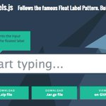Here is a #jQuery Plugin for Float Label Pattern: http://t.co/N0qnmlXulg *DJ http://t.co/idQiL1WCNA