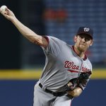 RT @Nationals: The line on @stras37 tonight: 7 IP, 5 H, 0 ER, 0 BB, 7 K -- 90 pitches, 58 strikes. #StraightDealing http://t.co/6gJxwqI5g2