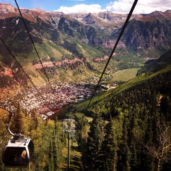 While it looks like a painting, it was my @Telluride commute. #fondmemories #gondola #14ers #TBBF14 http://t.co/rkBiokPA6h
