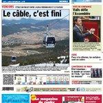 """Le câble vers le Vercors, cest fini... à la """"une"""" du Dauphiné Libéré de ce mardi (édition de Grenoble) http://t.co/ObZSWo0gOJ"""