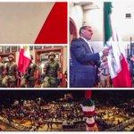 Saludo y recibo nuestra #BanderadeMéxico, emblema majestuoso de los ideales que dieron origen a nuestro país soberano http://t.co/0owO2FNpmH