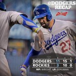 RT @Dodgers: #Dodgers defeat the Rockies behind @TheRealMattKemp's 21st homer of the year. Recap: http://t.co/56TALRLEga http://t.co/bPq5ZrEeKk
