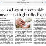 Govt should discuss best ways to stop Big #tobacco by litigation strategy at #COP6 of @FCTCofficial, #globalhealth http://t.co/rvcUrnZtvd