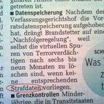 """""""Strafdaten"""": Freudscher Verschreiber im @derStandardat -Bericht zu BMJ-Wunsch für neue Vorratsdatenspeicherung http://t.co/a3W0ayaNiS"""