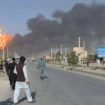 An image from suicide blast in #Kabul that killed 4 NATO-led troops near the #US embassy. Courtesy to Feroz Bashary http://t.co/ft8gUHV9y3
