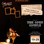 #BENGALURU! #TheOpenCouple has arrived  to open @JagritiTheatre's Season 2014. Get ready! http://t.co/2bTcy0Y367