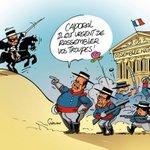 DESSIN DU JOUR - #Hollande et #Valls veulent rassembler leurs troupes ... Nicolas #Sarkozy ... J-5 : http://t.co/jeHREjwDw9