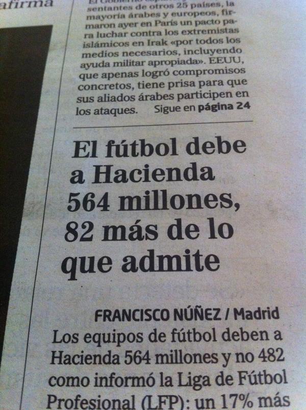 ¿Y por qué no cierran los estadios o prohíben los partidos hasta que paguen, por qué ese trato de favor? http://t.co/Ge7mw4Wwwh