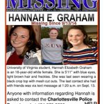 RT @SaveTheNextGirl: #UVA Student Hannah Graham is #Missing please help #BringHannahHome #FindHannahGraham #FindHannah RT http://t.co/cjvDz0tHT2