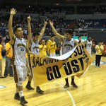 RT @janebracher: UST ends S77 w/ a 78-73 loss to UE. After hymns, entire UE gallery paid tribute to UST w/ a heartfelt #GoUSTe cheer http://t.co/PS3wfRB84j