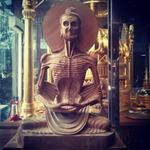 Ive never seen a Buddha statue like this before. It represents the period when he starved for several weeks. http://t.co/gcJUjcfSoI
