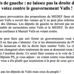 RT @JLMelenchon: Députés de gauche : ne laissez pas la droite décider, votez contre le gouvernement #Valls - #Votedeconfiance http://t.co/TewIf4Ig9i