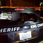 RT @kingcosoPIO: During pursuit the suspect shot one of our KCSO vehicles. Round went in the back window and out the front windshield. http://t.co/jzcvVBRyBb