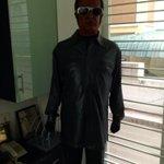 A #Rajinikanth bust from #Enthiran at director #Shankar's office in Chennai