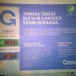 #mustamakkara #koeajo lahja #tankkitayteen kaasua #Tampere #lielahti #gasum @GasumOy http://t.co/zE0s58ybqp