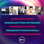 RT @mtvema: This year, vote for BIGGEST FANS on Twitter/Instagram! @onedirection @justinbieber @5SOS @nickiminaj @ArianaGrande http://t.co/qng9o8hoiq